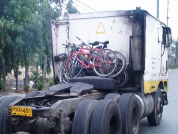 bike on truck