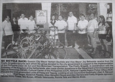 FFB Bike rack donation